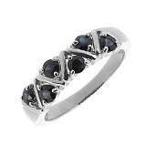 Серебряное кольцо Иоланта с сапфирами