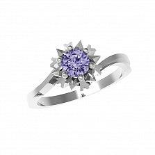 Серебряное кольцо Наоми с аметистом