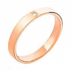 Золотое обручальное кольцо Звезда любви с цирконием