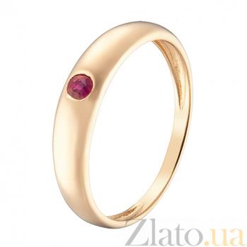 Кольцо в красном золоте Татьяна с рубином 000044954