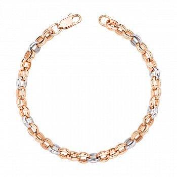 Золотой браслет в комбинированном цвете 000132086