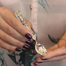 Серебряная кофейная ложка Ангел Хранитель с фигурной ручкой