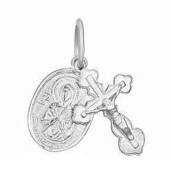 Крестик с ладанкой из серебра Духовное совершенство 000025344