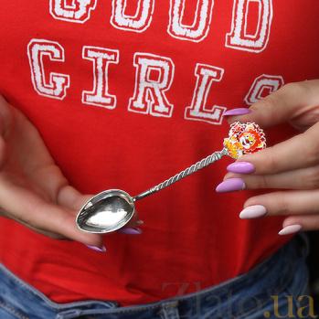 Серебряная чайная ложка Львенок 2.91.0087