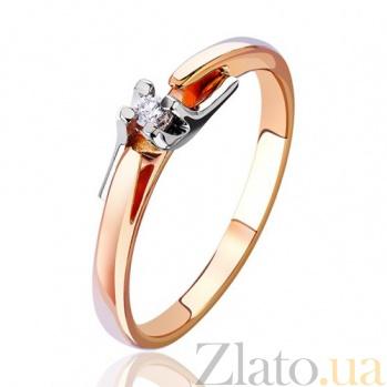 Золотое кольцо  с бриллиантом Антония EDM--КД7413