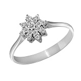 Кольцо из белого золота Георгин с бриллиантами
