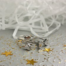 Серебряное кольцо Любовный клевер (3 в 1)