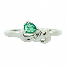 Серебряное кольцо с изумрудом Круз
