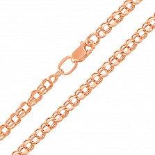 Золотая цепочка в красном цвете Исида с алмазной гранью, 5мм