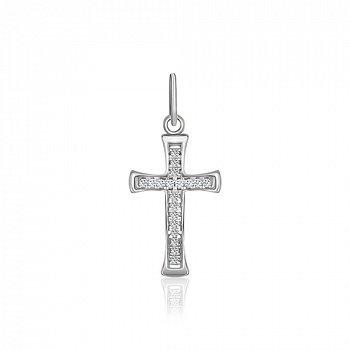 Серебряный крестик с фианитами Олимпия 000025294