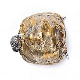 Серебряная пепельница Черепаха с позолотой