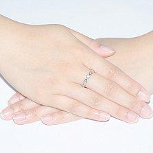 Кольцо в белом золоте Мэгги с бриллиантом