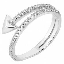 Серебряное кольцо Адриана с цирконием