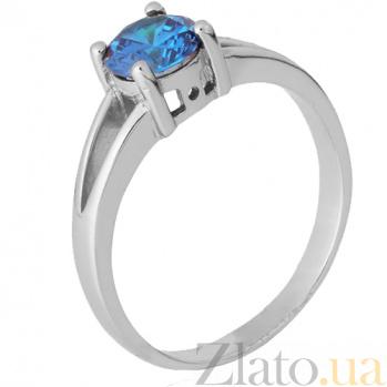 Серебряное кольцо Мелита с фианитом цвета лондон топаза SLX--КК2ФЛТ/404