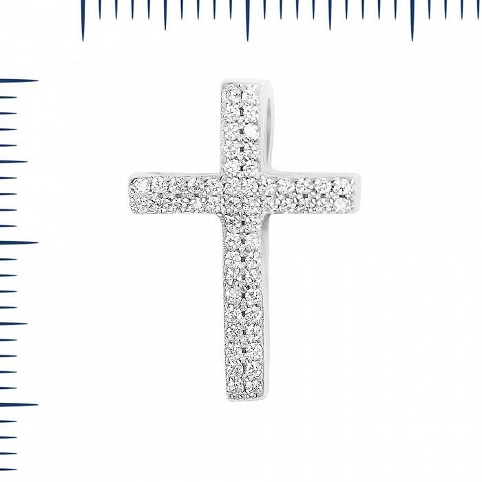 Серебряный крестик Зимний сон с фианитами 000081774