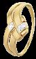 Серебряное кольцо с фианитами Айдана 000025632