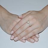 Серебряное кольцо с жемчугом Гамма