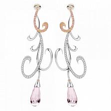 Серьги Argile-Z с аметистами, бриллиантами и розовыми сапфирами