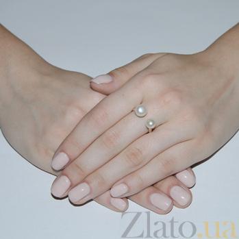 Серебряное кольцо с жемчугом Гамма BGS--404к/б