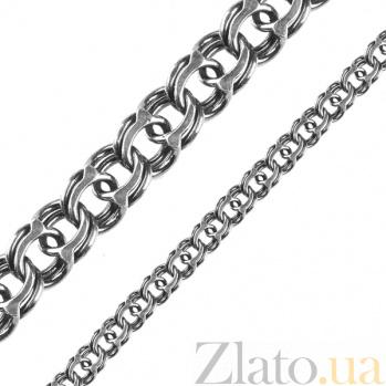 Серебряный чернёный браслет Атлайн, 7мм 000079824