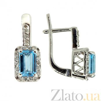 Золотые серьги с бриллиантами и топазами Лаура ZMX--EDT-6838w_K
