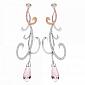 Серьги Argile-Z с аметистами, бриллиантами и розовыми сапфирами E-cjZ-W/R-2am-40s-88d