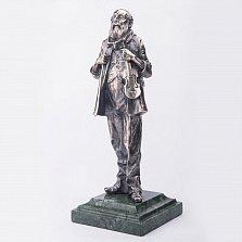Серебряная статуэтка ручной работы Старый скрипач