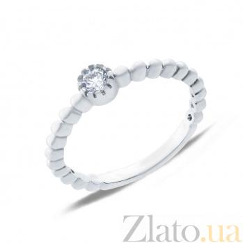 Серебряное кольцо с цирконом  AQA-SK-FC015-R