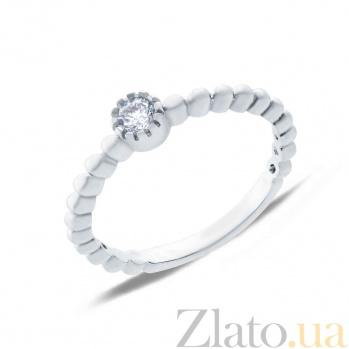 Серебряное кольцо с цирконом  AQA--SK-FC015-R