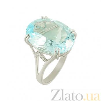 Золотое кольцо с топазом и бриллиантами Алена 1К034-0925