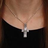 Серебряный крест Блаженный с чернением