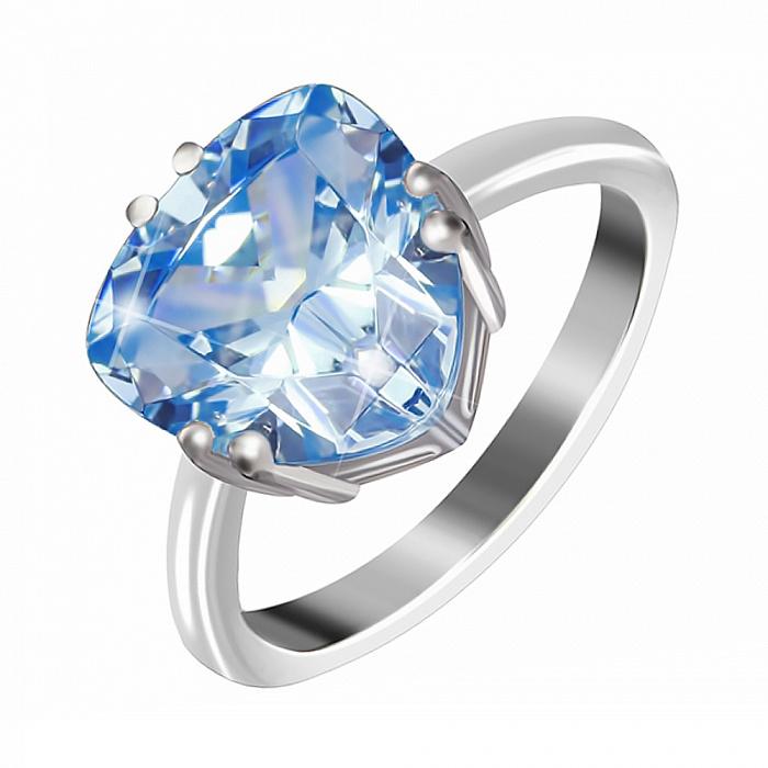 Кольцо из серебра с синим фианитом Альфинур 000028337
