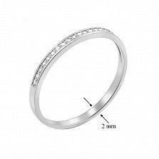 Кольцо из белого золота Нежное чувство с бриллиантами