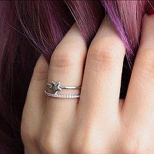Серебряное кольцо Звездный час с фианитами