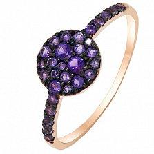 Золотое кольцо с аметистами Мистери