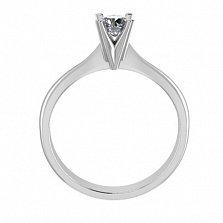 Помолвочное кольцо из белого золота Победа любви с бриллиантом 3,9мм