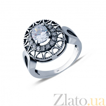 Серебряное кольцо с куб. цирконием  AQA--71550б*