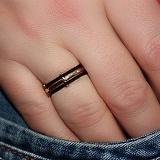 Золотое обручальное кольцо Нерушимый союз