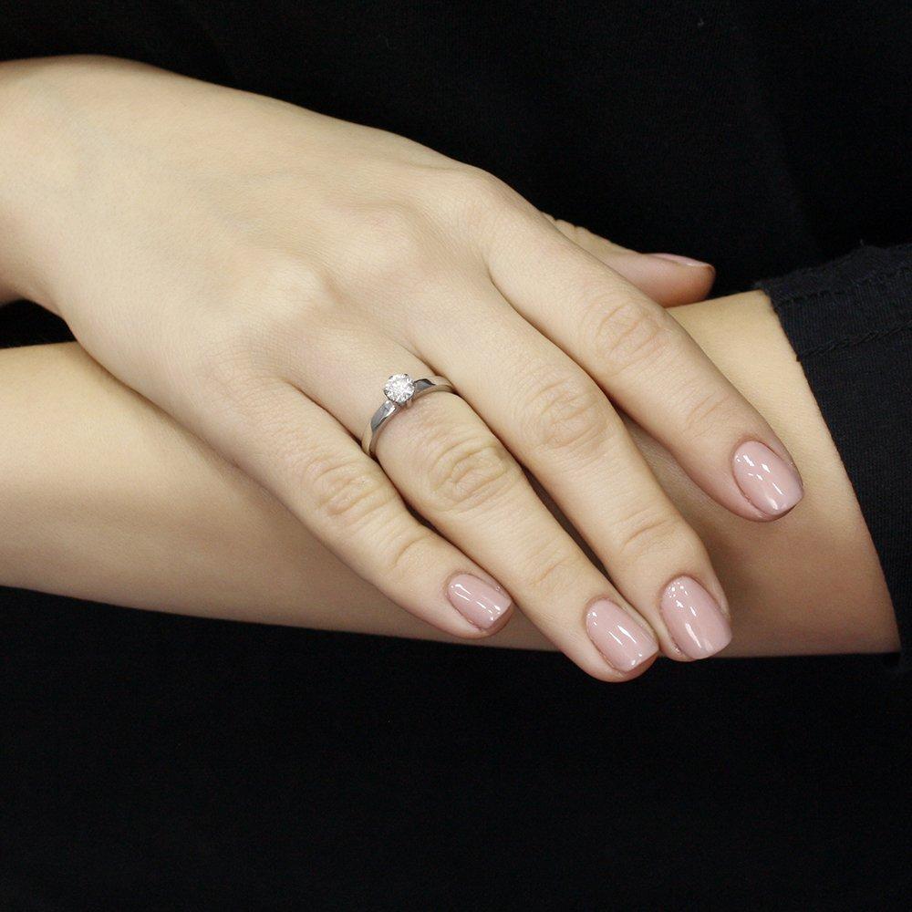 Золотое кольцо Amore с бриллиантом 0,51ct и дополнительным бриллиантом в шинке