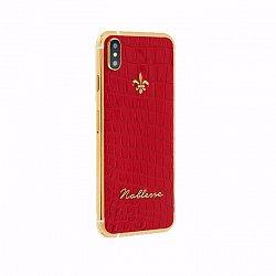 Apple IPhone XS Noblesse Red croco в красной коже, золоте и бриллиантами