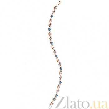 Золотой браслет с сапфирами и бриллиантами Музыка звезд KBL--БР019/крас/сапф
