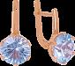 Серьги из золота с голубыми топазами Дамира VLN--113-1349-1