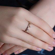 Золотое кольцо из красного золота Корона