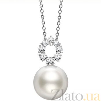 Кулон Baruch из белого золота с бриллиантами P-Mi-W-d8-p1