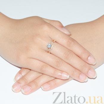 Золотое кольцо с цирконием 11940