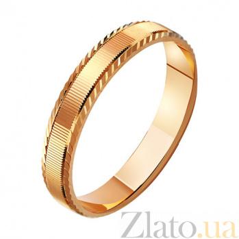 Золотое обручальное кольцо История любви TRF--411025