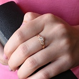 Золотое кольцо Миримма с фианитами