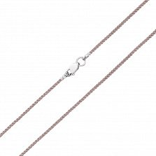 Бежевый шелковый шнурок Бриз с серебряным замком,1мм