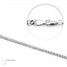 Серебряная родированная цепочка Антарктика плетения Нонна, 2мм