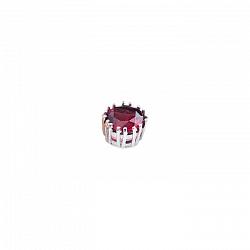Серебряное колье на леске Вишневый джем с гранатом
